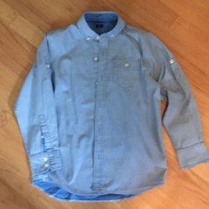 GapKids poplin casual button down dress shirt